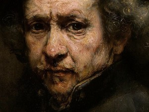 One of Rembrandt's delicious self portraits.