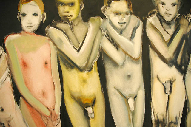 Young Boys (detail) by Marlene Dumas