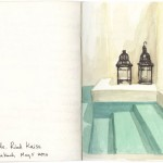 Lisa Hebden ~ Riad Kaiss Pool Sketch