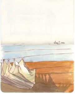 Lisa Hebden ~ Riad Kaiss Sails Sketch