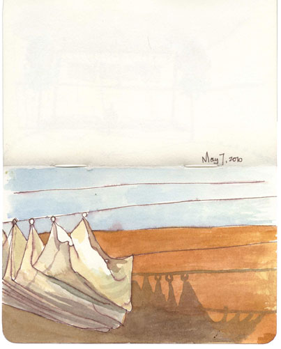 Lisa Hebden ~ Riad Kaiss Sails Sketch