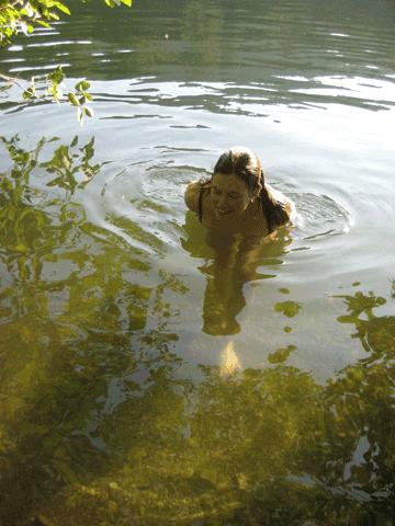me-in-lake