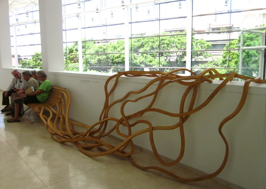 Loved this crazy wooden bench. You can see the tendrils climbing down the walls in the previous photos.